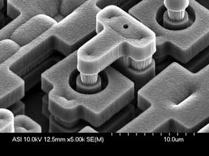 MEMS-актуатор размером 10 микрон